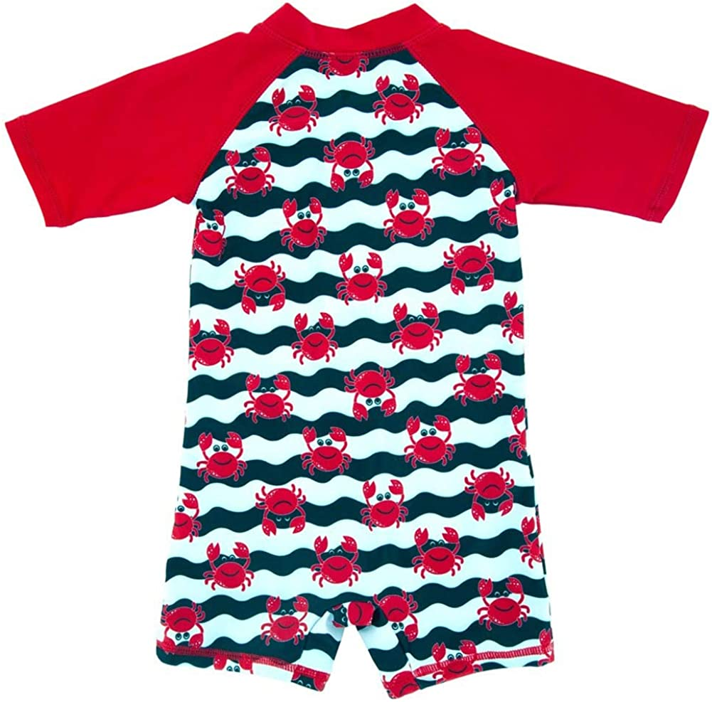 Sun Protection Swimsuit Lovely Cartoon Prints Bathing Suit Swimwear Achiyi Baby Boys Toddler One-Piece UPF 50