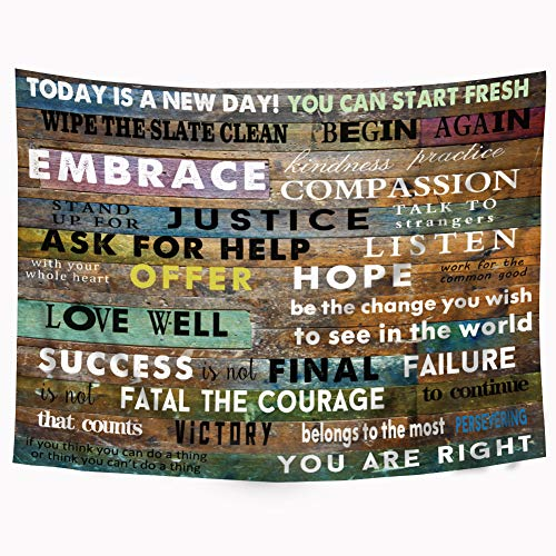 Riyidecor Inspirational Tapestry Motivational Colorful product image