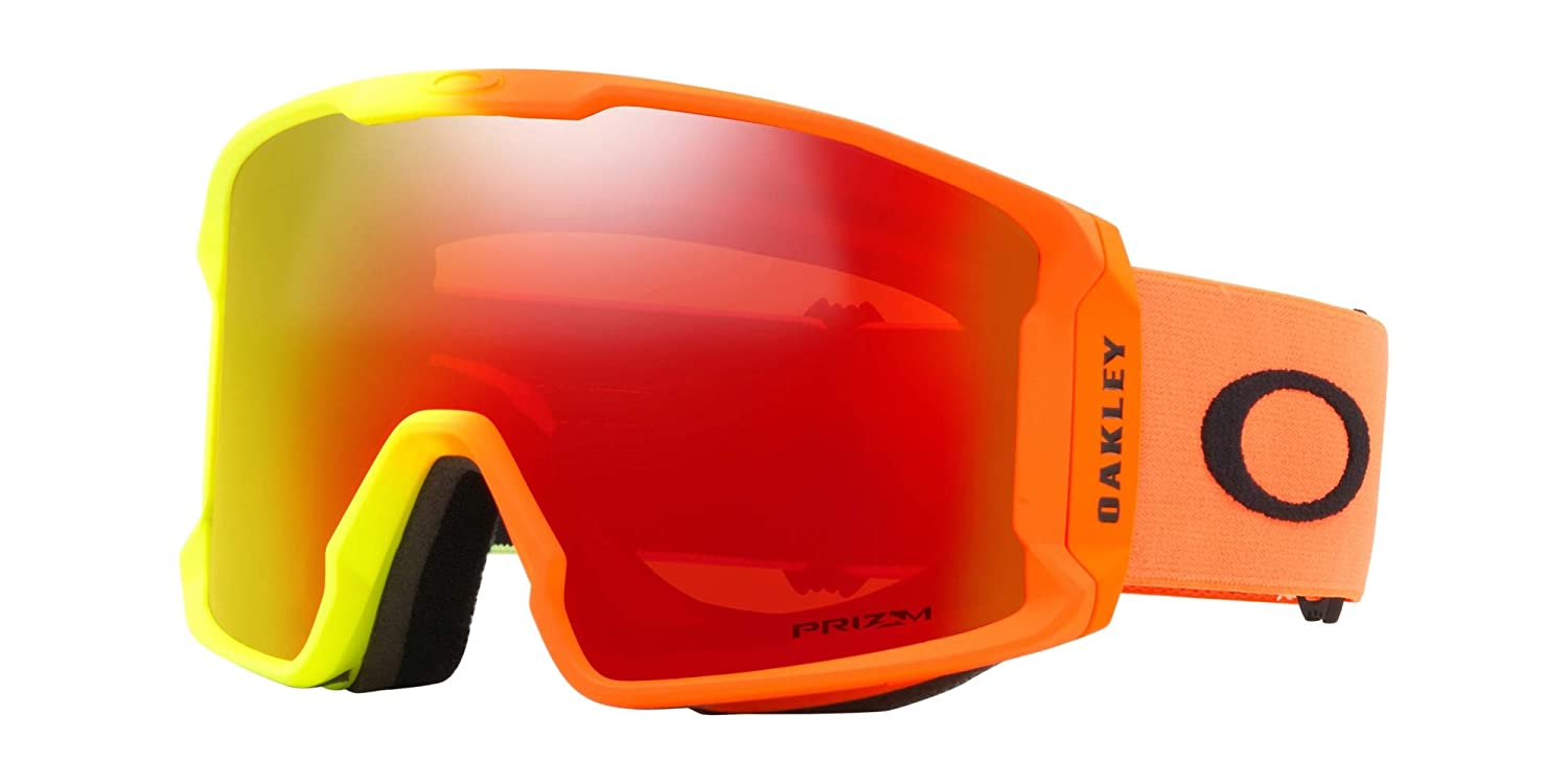bf8fa038379 Amazon.com   Oakley Line Miner Asian Fit Men s Snowmobile Goggles - 2018  Team Oakley Prizm Torch Iridium Large   Sports   Outdoors
