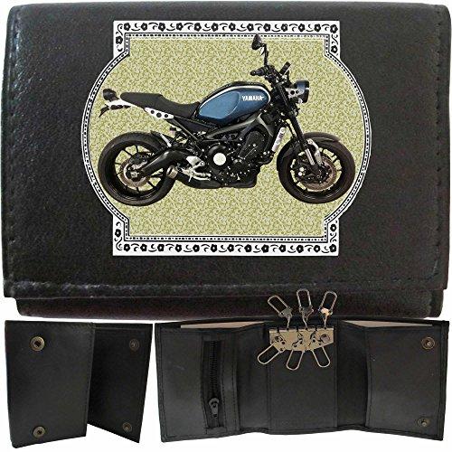 Yamaha XSR 900 Schwarz Klassek Leder Schlusseletui Schlusselleiste Mit Haken Motorrad Bike Zubehor Geschenk Metall