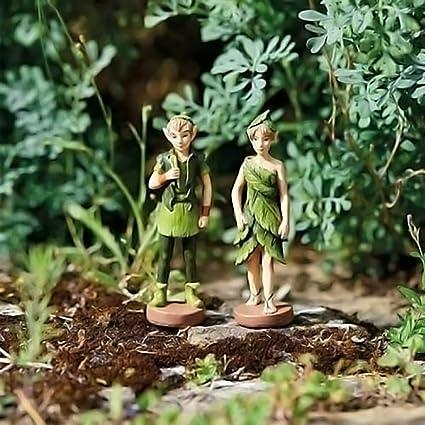 HomeZone® Figuras de hadas encantadas en miniatura para jardín de hadas, adornos para jardín u hogar (2 piezas de elfos del bosque): Amazon.es: Oficina y papelería