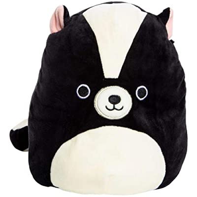 Squishmallow Kellytoy 8 Inch Skyler The Skunk - Super Soft Plush Toy Animal Pillow Pal Buddy: Toys & Games