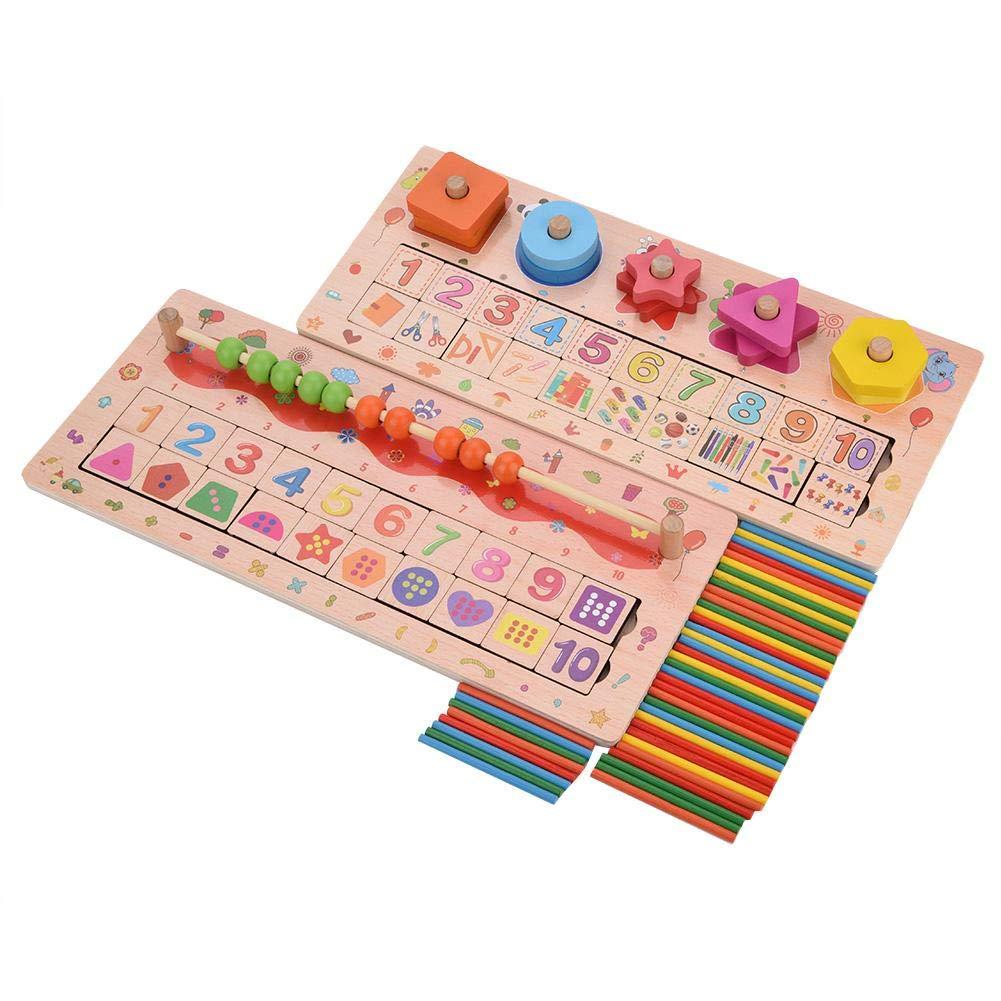 Jouet en Bois de Montessori Panneau de Calcul Enfants Tôt Jouet Éducatif