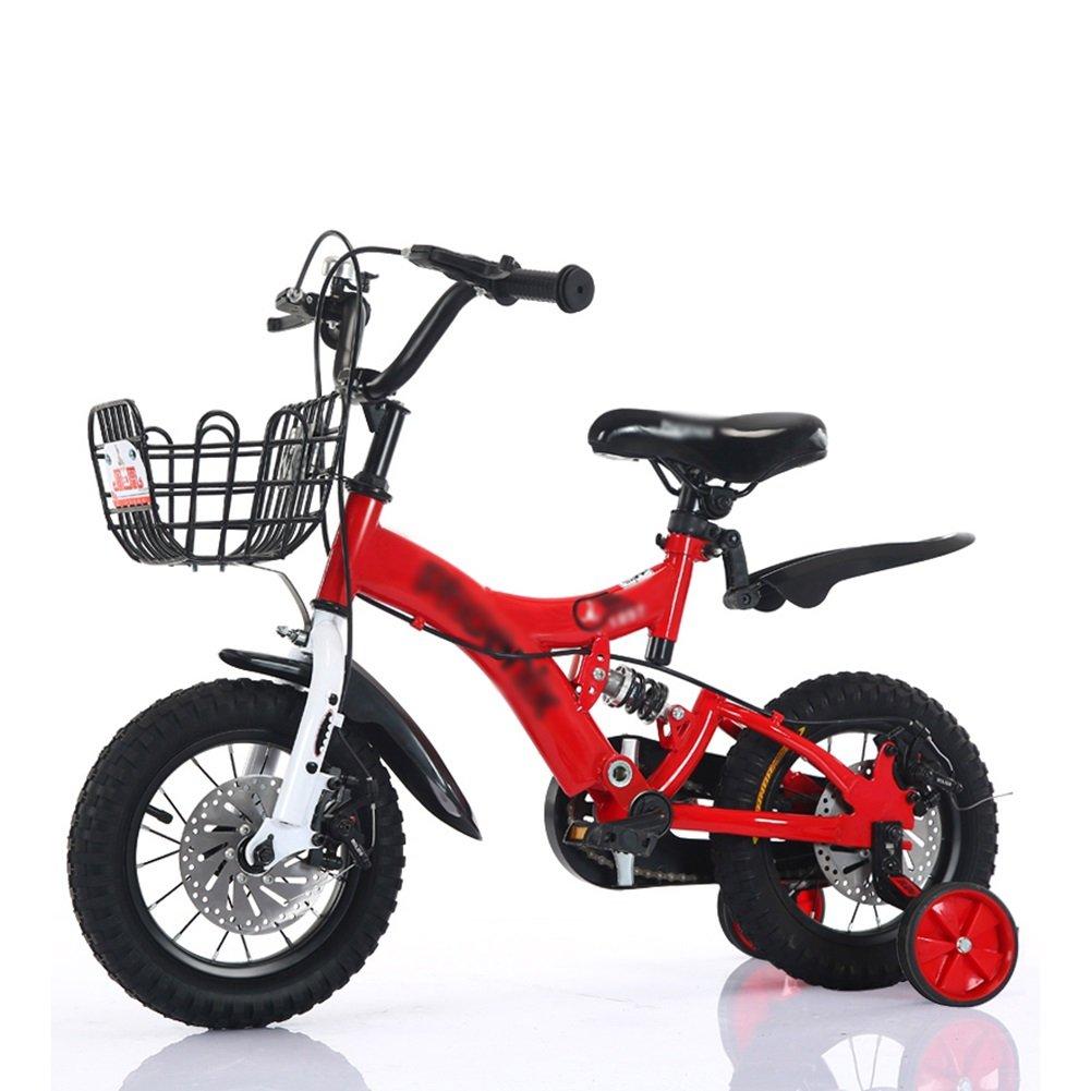 子供の自転車2歳から10歳の赤ちゃんの子供のペダル自転車の少年の赤ちゃんのキャリッジバイク赤黄色の青 B07DV6ZM6Z 12 inch|赤 赤 12 inch