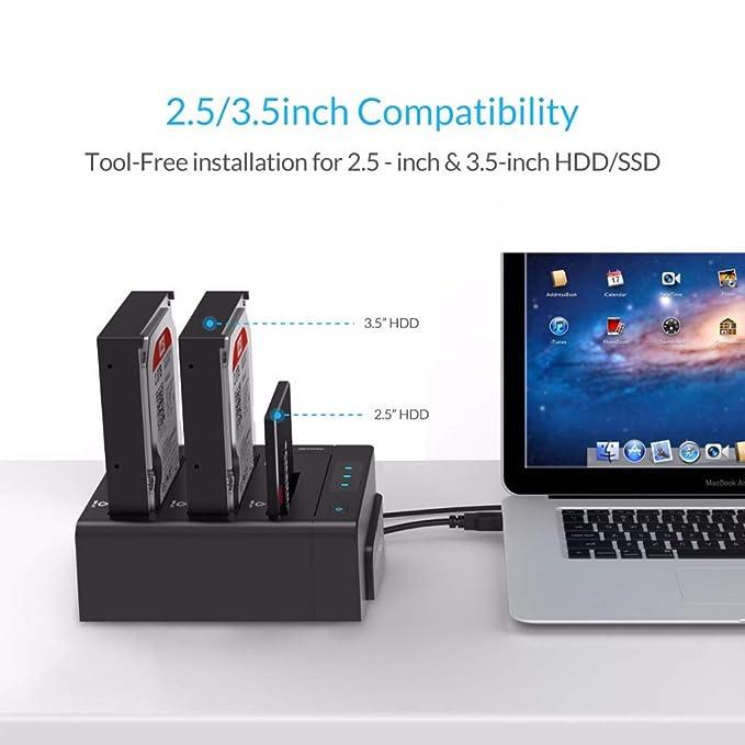 WLPT HDD Docking Station, USB3.0 SATA Docking Station para Disco ...