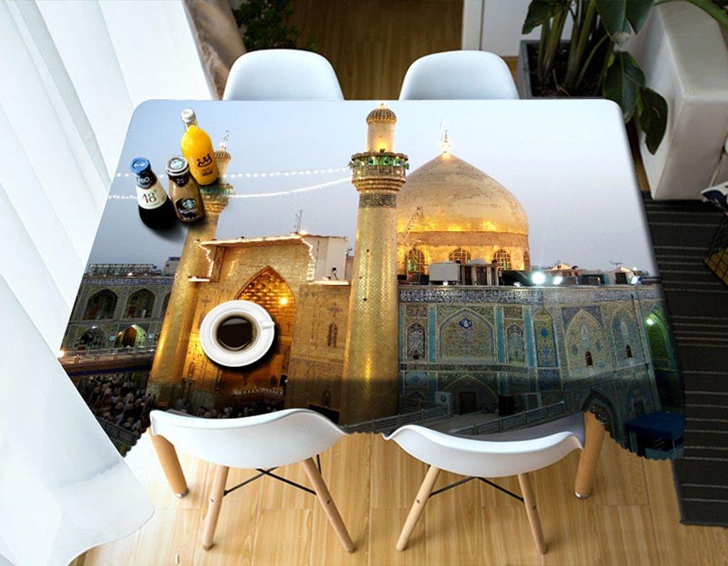 Ropa de Cocina Manteles rectangulares - 3D Landscape Series Tablecloth Vc20 - Respetuoso con el Medio Ambiente y sin Sabor - Impreso digitalmente a Prueba de Agua (Tamaño : Square -216cmx216cm)