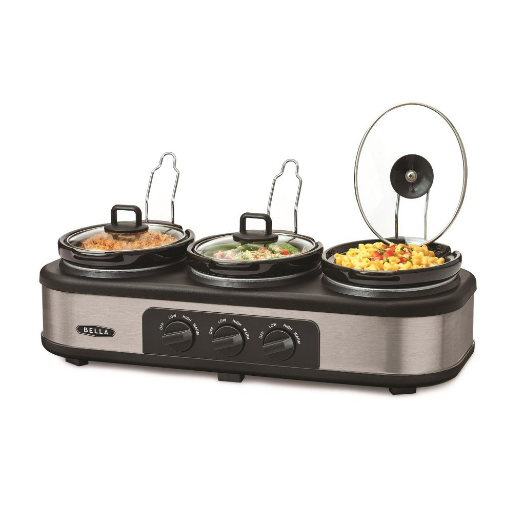 Bella Large 66l Triple Slow Cooker And Warming Station: Amazon:  Kitchen & Home