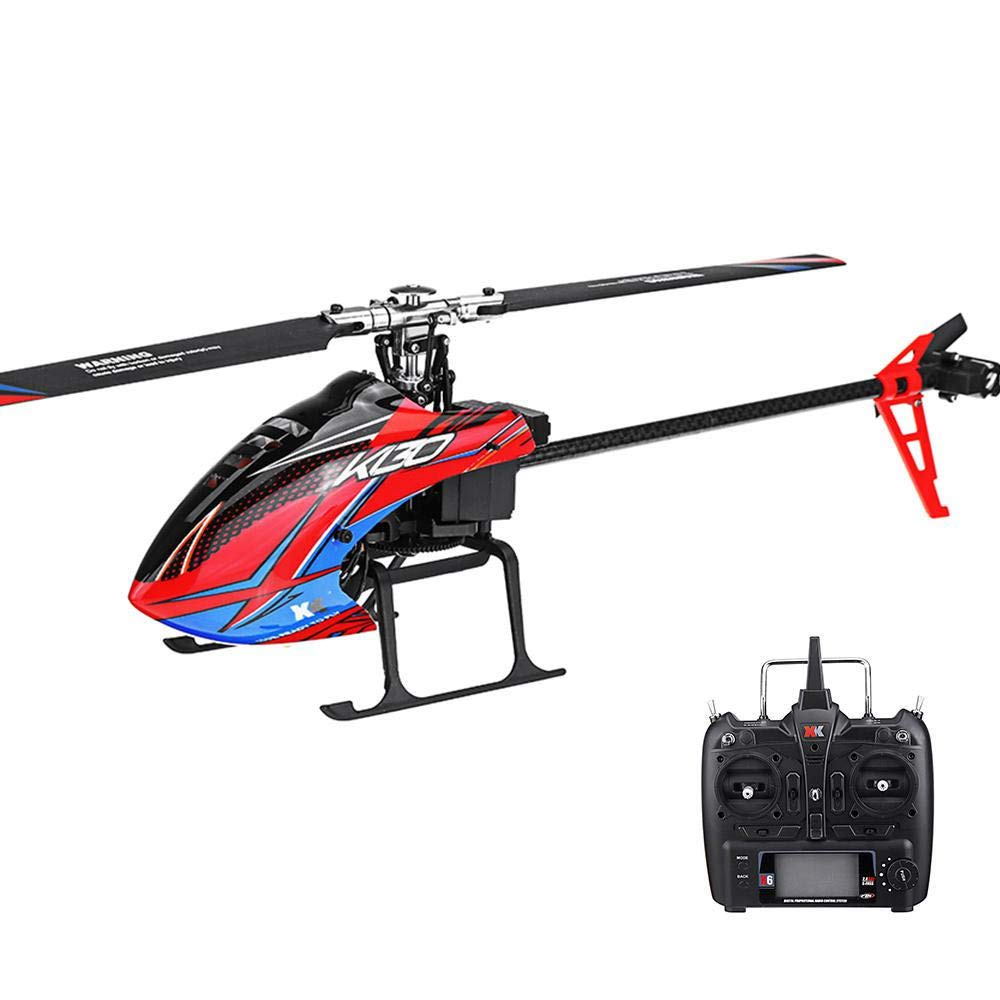 Generic LeadingStar XK K130 2.4G 6CH Brushless 3D6G System Flybarless RC Helicopter RTF Compatible with FUTABA SFHSS as Shown