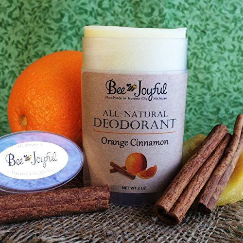 Bee Joyful Deodorant - Orange Cinnamon - All-Natural by Bee Joyful