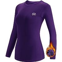MEETWEE Camiseta Térmica Mujer, Ropa Interior de Compresión Manga Larga Esquí Funcional Thermal Baselayer para…