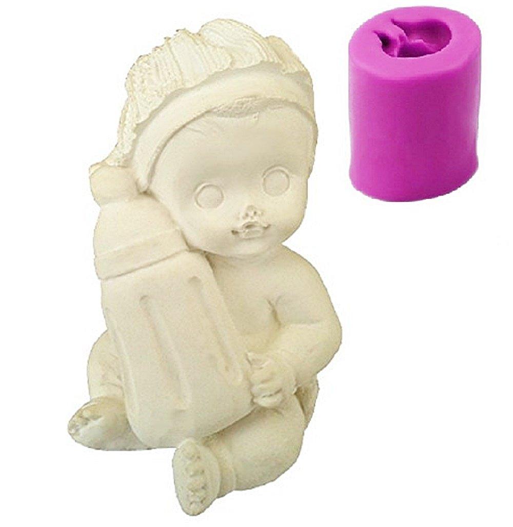 Inception Pro Infinite stampi in silicone per uso artigianale di un bambino con biberon - adatto anche per candele Exsyn Di Tozzi Stefano