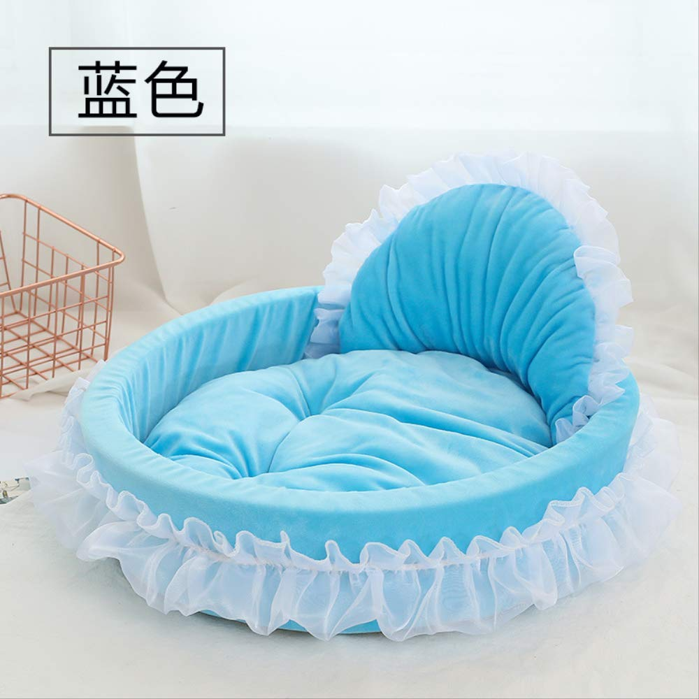 KIPB Pet Supplies Cat Nest Dog Nest Small Dog Cotton Nest Princess Nest 53x48cm by KIPB