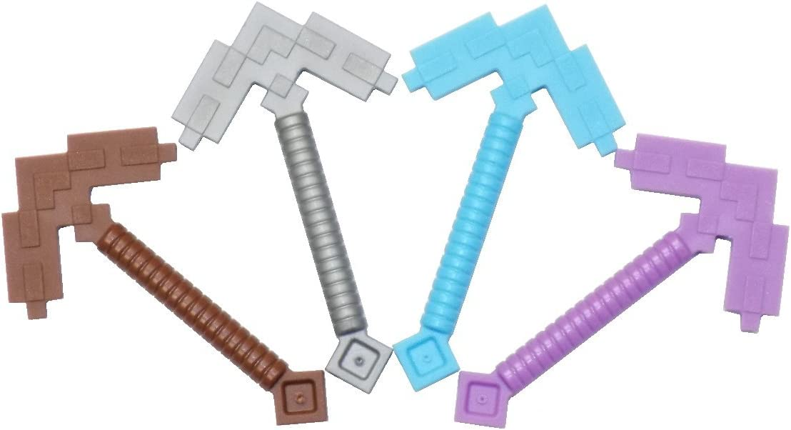 LEGO Minecraft Pickaxe Pack - Wood, Iron, Diamond, Enchanted