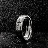 SAME DAY SHIPPING GIFT TIL 2PM CDT Customizable Your Name Ring Stainless Steel Beveled Edge Flat Band Ring