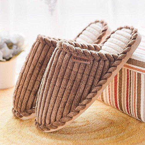 Nozze habuji bagno bagno bellissimo estate hotel di grandi dimensioni home soffice cotone pantofole, 39-40, marrone