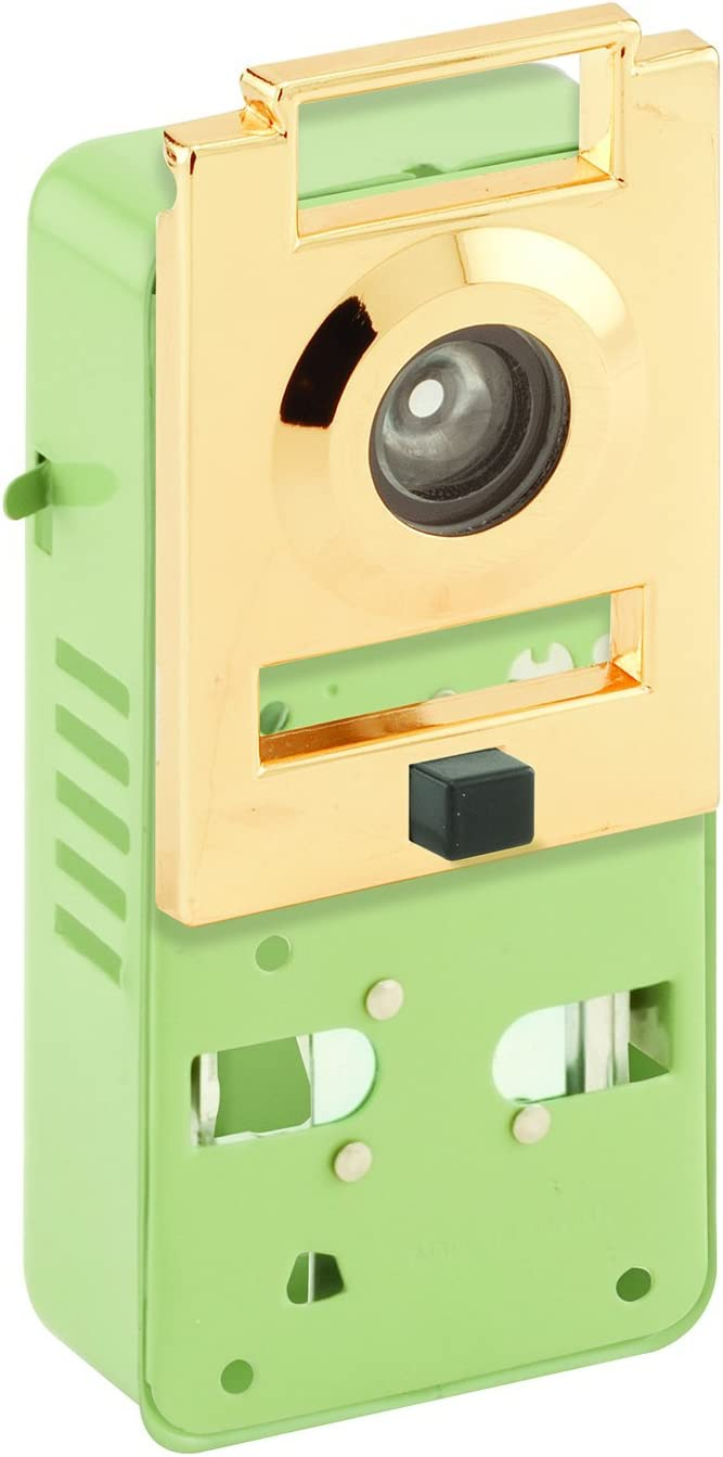 Defender Security U 10814 Door Chime and 200-Degree Viewer, Non-Electric, Brass