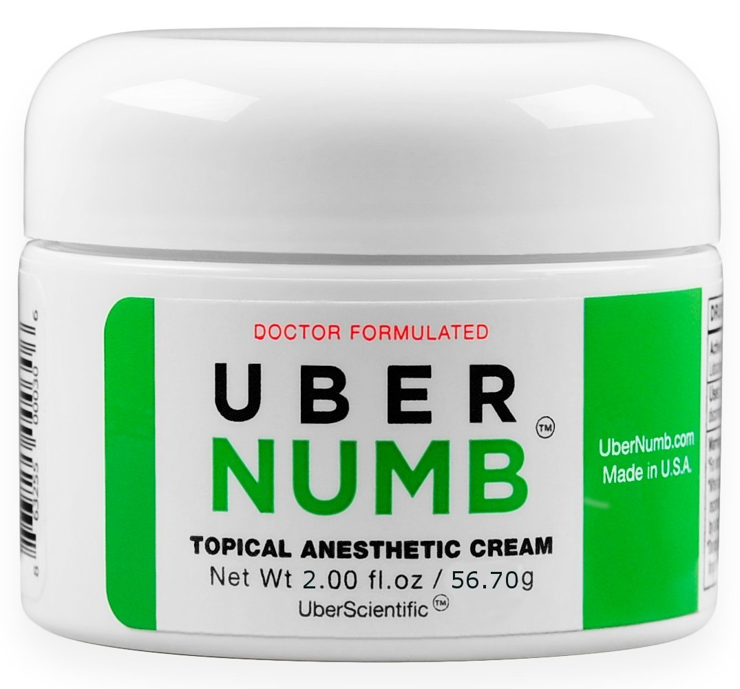 UberNumb (2oz) 5% Lidocaine , Pain Relief Cream, Lidocaine Ointment, Numbing Cream, Made in USA