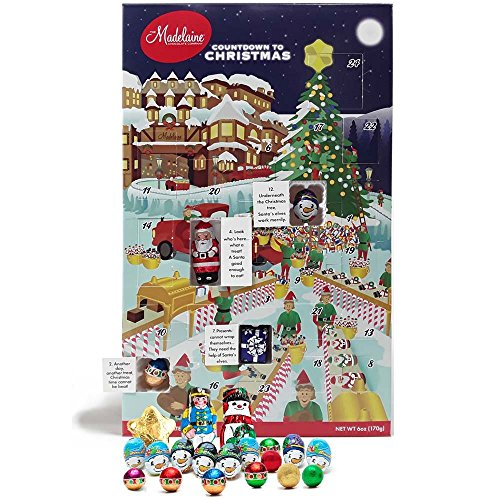 Madelaine Chocolates Santas Workshop Christmas Countdown Advent Calendar, Filled With Solid Premium Milk Chocolate (1 Pack)