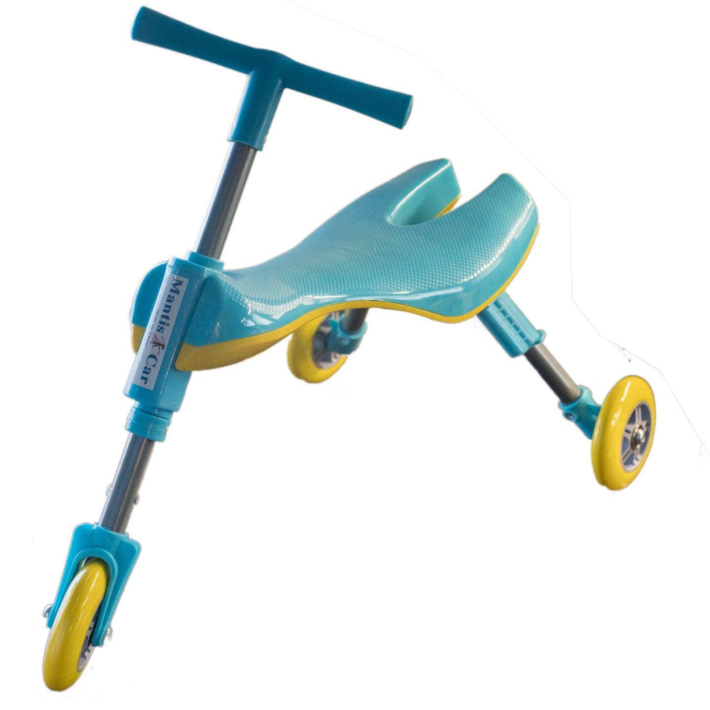 Mr Bigz Foldable Indoor/Outdoor Toddlers Glide Tricycle - No Assembly Required (Blue)