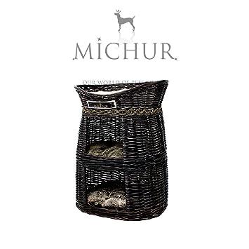 MICHUR BIG BEN, Cama del perro, cama del gato, cesta del gato, cesta del perro, sauce, cueva, mimbre, natural: Amazon.es: Hogar