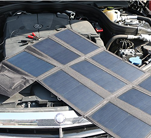Solar Charger, ALLPOWERS 60W Foldable SunPower Solar Panel (Dual 5V USB with iSolar Technology+18V DC Output) for Laptop, ipad, Smartphone, iphone, Samsung, and 12V Car, Boat, RV Battery by ALLPOWERS (Image #8)