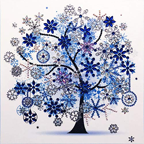 HengQ Diamond Painting for Adult or Kid Diamond Painting Kit 5D DIY Special Shape Diamond Painting Sets,Diamond Painting by Number,Tree Pattern 12x12 (Winter)