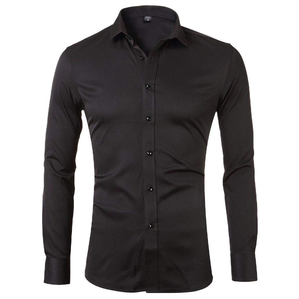 SportsX Men Business Long Sleeve Button Down Work Slim Fashion Shirts