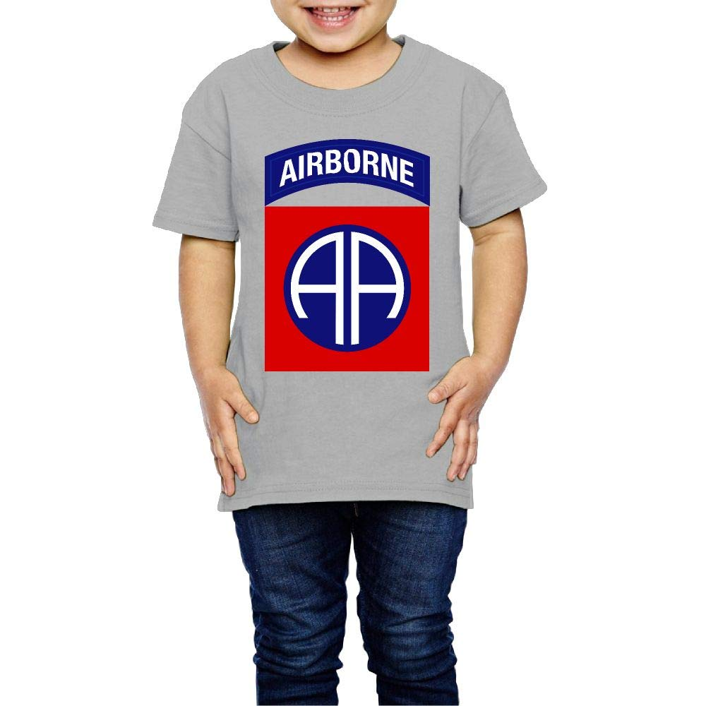 Kids 82nd Airborne Short Sleeve Cotton T Shirt Infants Boys Girls Summer Outfit Toddler Clothes Tshirt