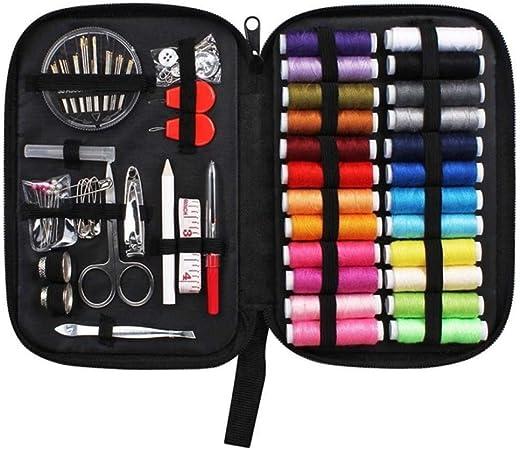 BWYFGRT 70Pcs / Set Accesorios para el Kit de Caja de Coser Costuras de Acolchado de Viaje Bordado Costura Aguja Kits de Costura artesanales con Estuche Mamá .04: Amazon.es: Hogar