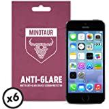 Apple iPhone SE/5S/5C/5 Screen Protector Pack, Matte Anti Glare by Minotaur (6 Screen Protectors)