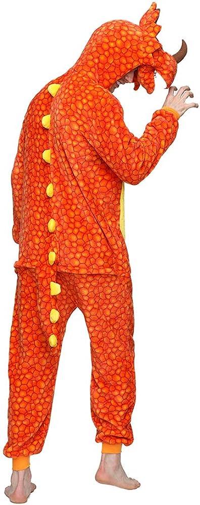 CUBBOT Unisex Adult Animal Onesie Pajamas for Women Men Unicorn Dinosaur Halloween Christmas Fleece Onepiece Costume