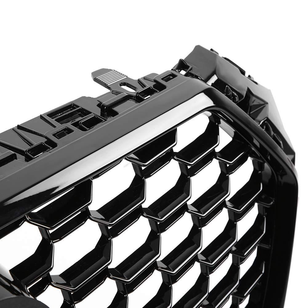 KIMISS RS4 Style Front Sport Hex Mesh Honeycomb Haubengrill Schwarz gl/änzend f/ür A4 S4 B9 17-18