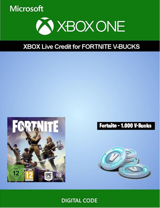 Xbox Live credit for Fortnite - 1 000 V-Bucks | Xbox One