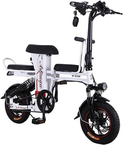 LOVE-HOME 12 Pulgadas Bicicleta Plegable Eléctrica, 48V 50 ...