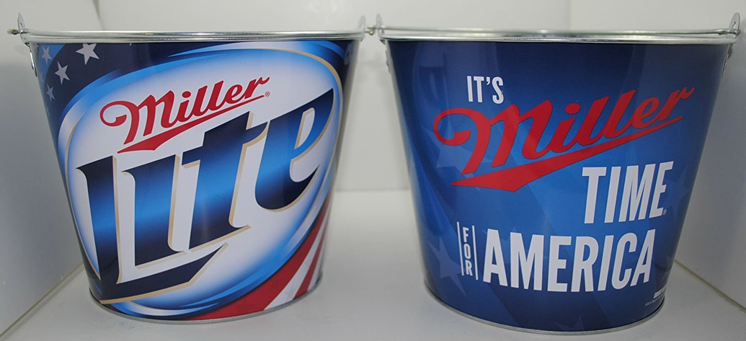 Its Miller Time for Amercia Beer Bucket