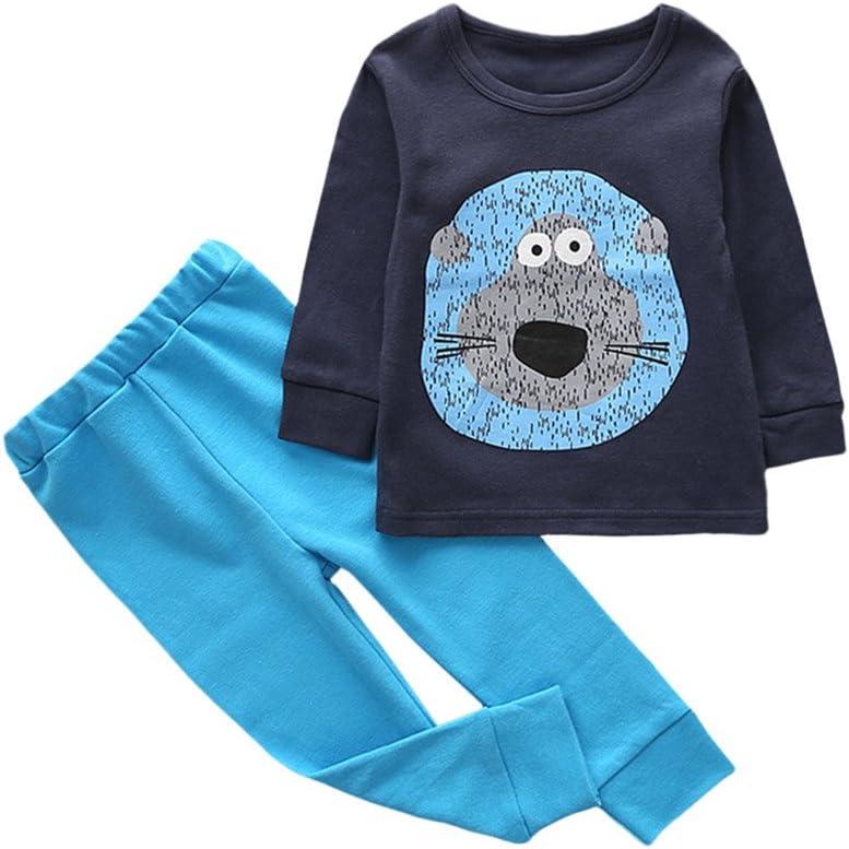 feiXIANG Ropa de bebé niño niña bebé niña niños Dibujos Animados Estampado Animal Camisa + Pantalones Traje de Dos Piezas Servicio a Domicilio 1-6 años: Amazon.es: Electrónica