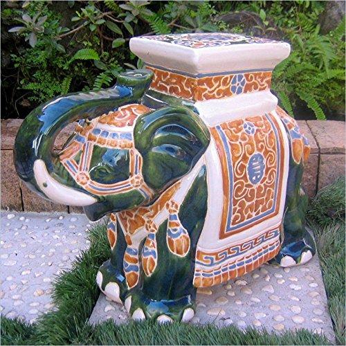International Caravan VHO16A-C-LG-608-IC Furniture Piece Large Porcelain Elephant ()