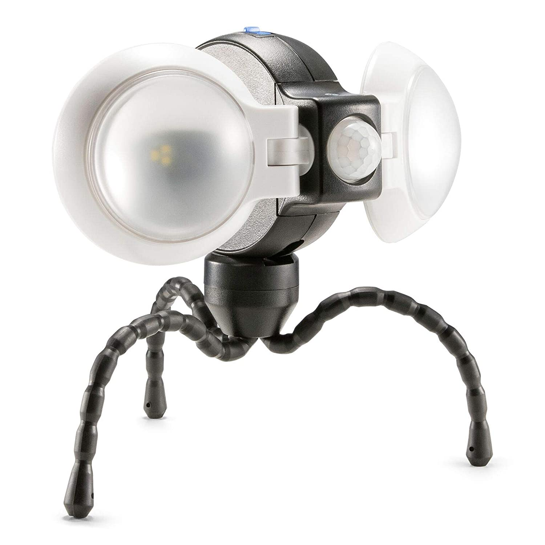 Equipt EQBPL092 Weather Resistant Portable Multi-Functional Double LED Light with Motion Sensor