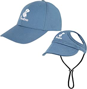 Pawaboo Dog Parent-Child Hats, Pet's Mom/Dad Baseball Cap Set, Dog Visor Cap Sun Protection Hats with Ear Holes and Adjustable Strap, Family Matching Hats for Owner and Lovely Pet