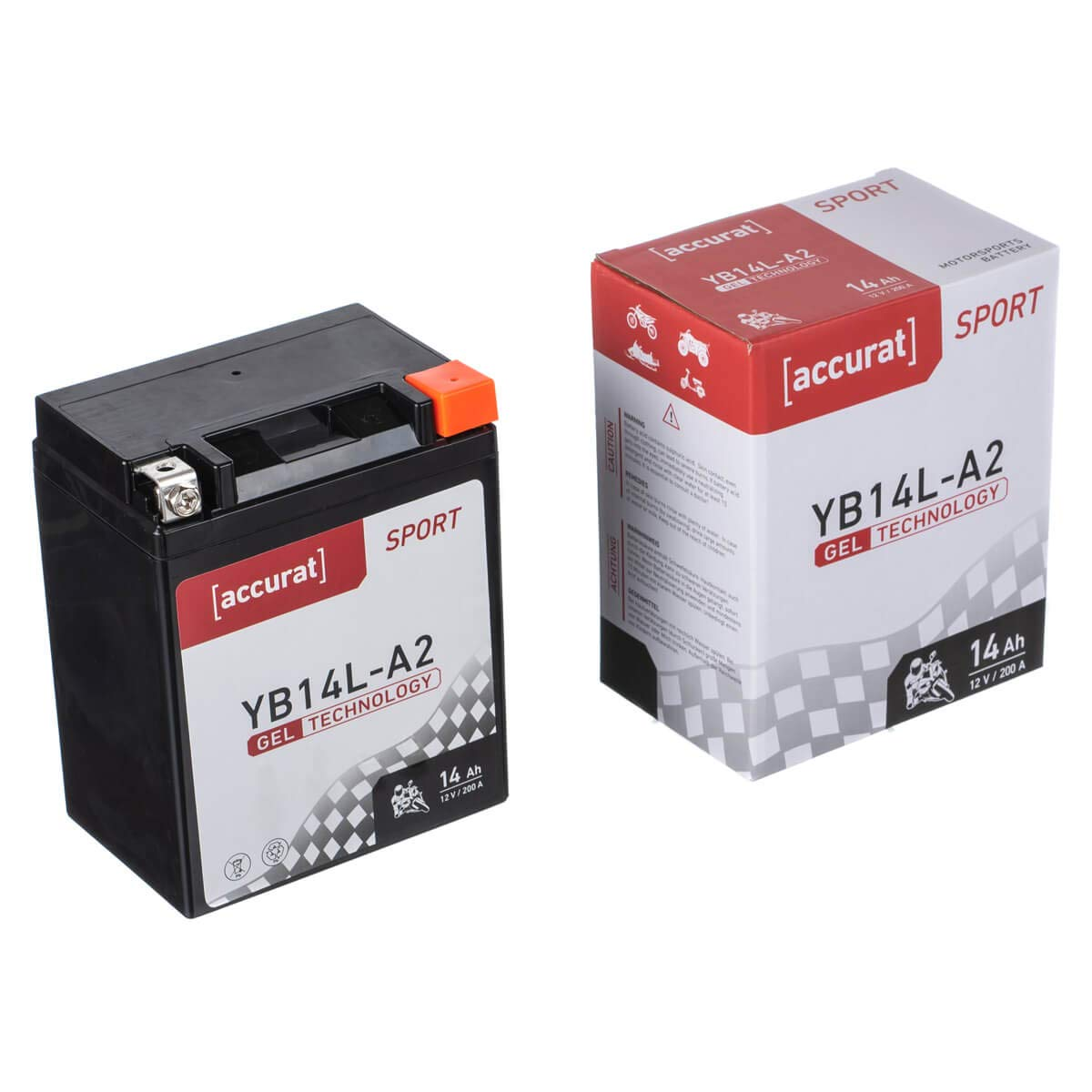 Accurat Motorradbatterie YB12AL-A 12Ah 180A 12V Gel Technologie Starterbatterie in Erstausr/üsterqualit/ät zyklenfest sicher lagerf/ähig wartungsfrei