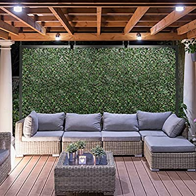 Coarbor Artificial Leaf Ivy Faux Expandable Privacy Fence Screen Stretchable Fencing Perfect For Deck Balcony Patio Porch Trellis Outdoor Decor- Single Side Leaves