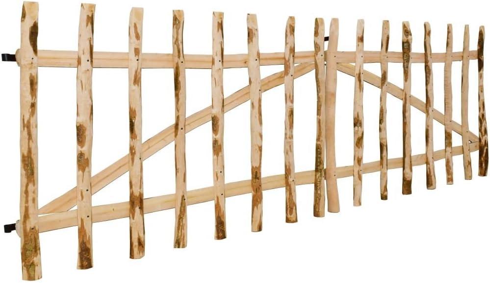 Cancello doble para valla de madera de nogal 300 x 90 cm.Questo Libro del Cancela Sono robusto y seguro Cancela Jardín Nice Puerta Puerta Jardín Garaje Exterior: Amazon.es: Bricolaje y herramientas