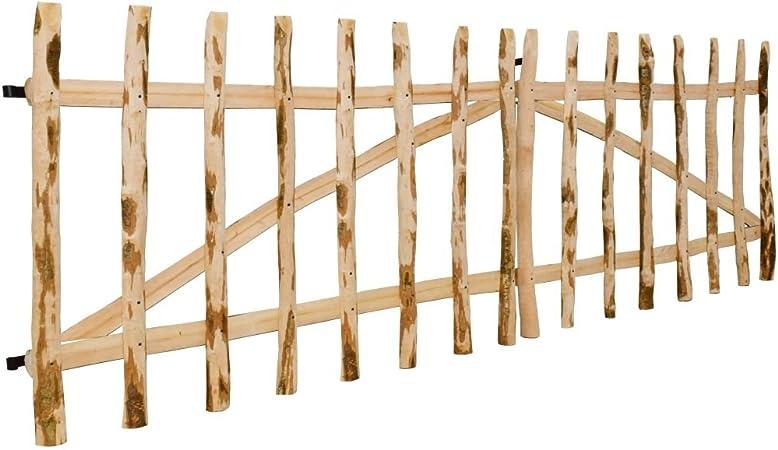 Tidyard Puerta Doble de Madera para Jardín,Puerta para Valla Verja Cercas o Cercados para Jardín Patio,Madera de Avellano,300x90cm: Amazon.es: Hogar