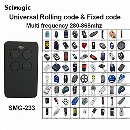 Universal 280 868mhz Multifrequency Gate And Garage Door Remote