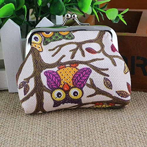 Style Lovely Purse Bags Pockets Women Khaki Owl Hasp Small Wallet 2018 Coin Handbags Clutch Fashion Noopvan Wallet Clearance Vintage wHFxYBq