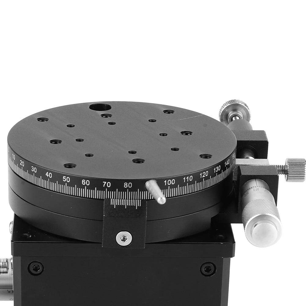 Linear Stage Manual Linear Stages 80mm SEMXYZR-80 Micrometer Manual Trimming Platform Linear Stage Bearing Tuning Sliding Table Suitable for Laboratory Precision Inspection