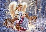 Angel Feeding Deer - Box of 16 Christmas Cards