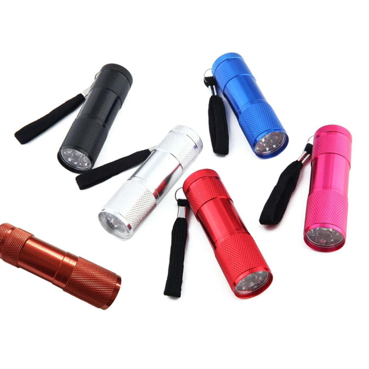 BIYI Mini 9LED Linterna UV Rayos ultravioleta Detecci/ón de marcador de tinta invisible Antorcha Luz para comprobar la factura Dinero negro