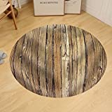 Gzhihine Custom round floor mat Old Weathered Wood Background and Natural Distressed Antique Planks