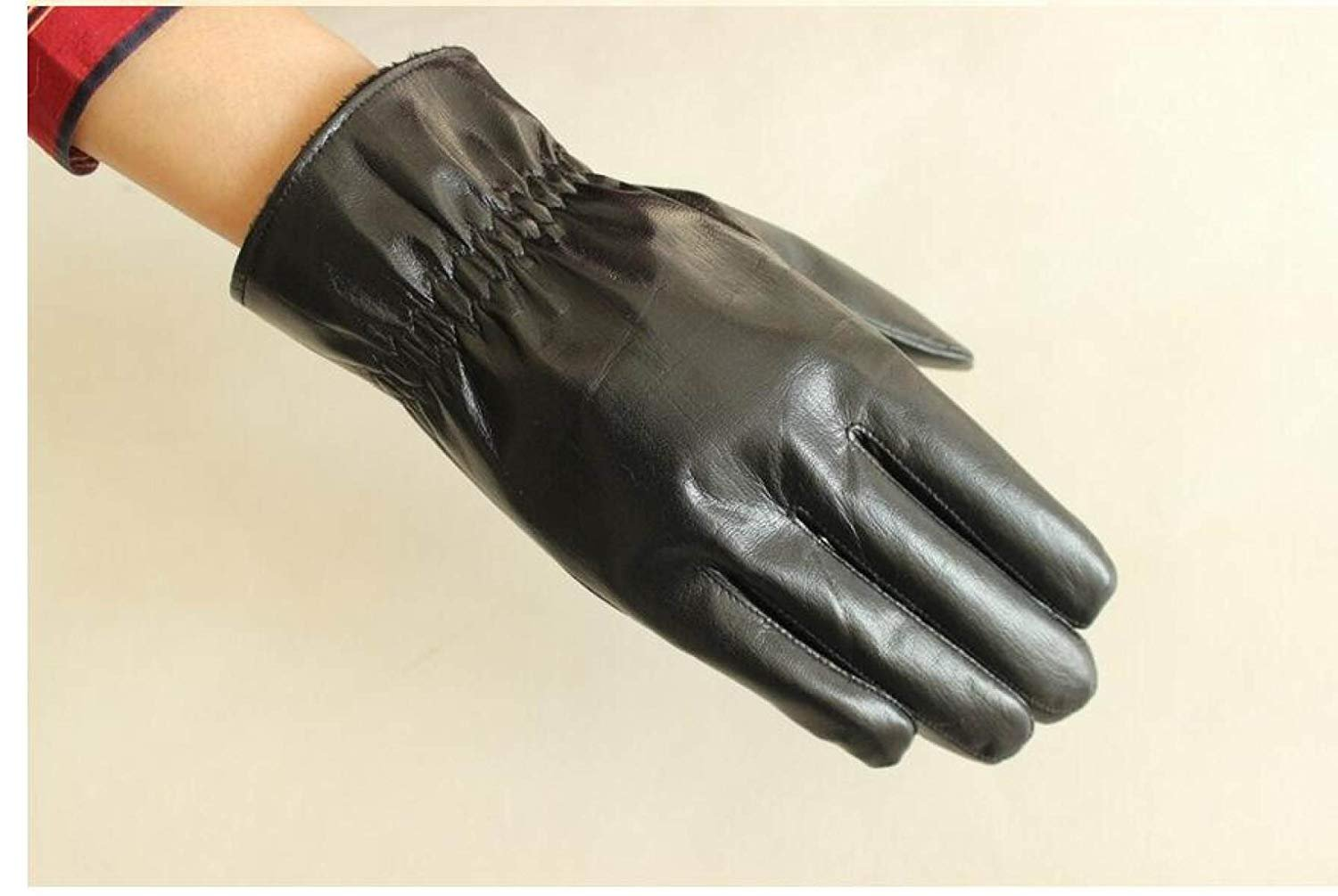 CWJ Men's Gloves Thick Drive Car Ride Warm,Black,One Size by CWJ (Image #5)